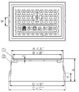 品番 KM-13 水道管口径13mm用寸法図
