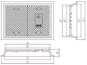 鉄蓋 基本寸法 指示図