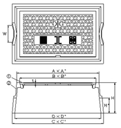 品番 KM-40 水道管口径30-40mm用寸法図