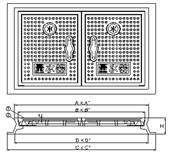 品番 KM-50 水道管口径50mm用寸法図