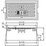 品番 KDD-5 水道管口径13-20mm用寸法図