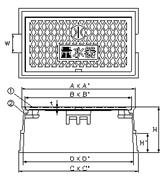 品番 MB-25L 水道管口径25mm用寸法図