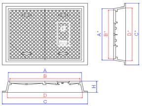 鉄蓋 基本寸法 指示図2